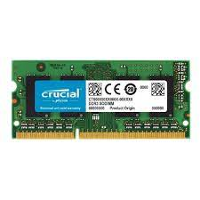 Crucial 4GB Single DDR3-1600 (PC3-12800) SODIMM 204-Pin High Density Memory CT51264BF160BJ