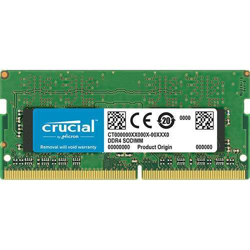 Crucial RAM 4GB DDR4 2666 MHz CL19 Laptop Memory CT4G4SFS8266