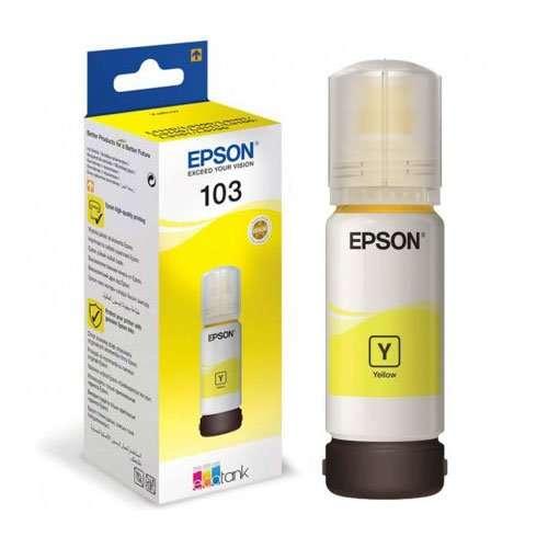 Epson 103 Ecotank Yellow Ink Bottle - (C13T00S44A)