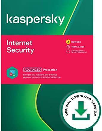 Kaspersky Internet Security 2021   3 Devices   1 Year   Antivirus and Secure VPN