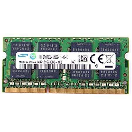 Samsung 8GB, DDR3 PC3L-12800, 1600MHz ram Memory Module for laptops (M471B1G73EB0-YK0)