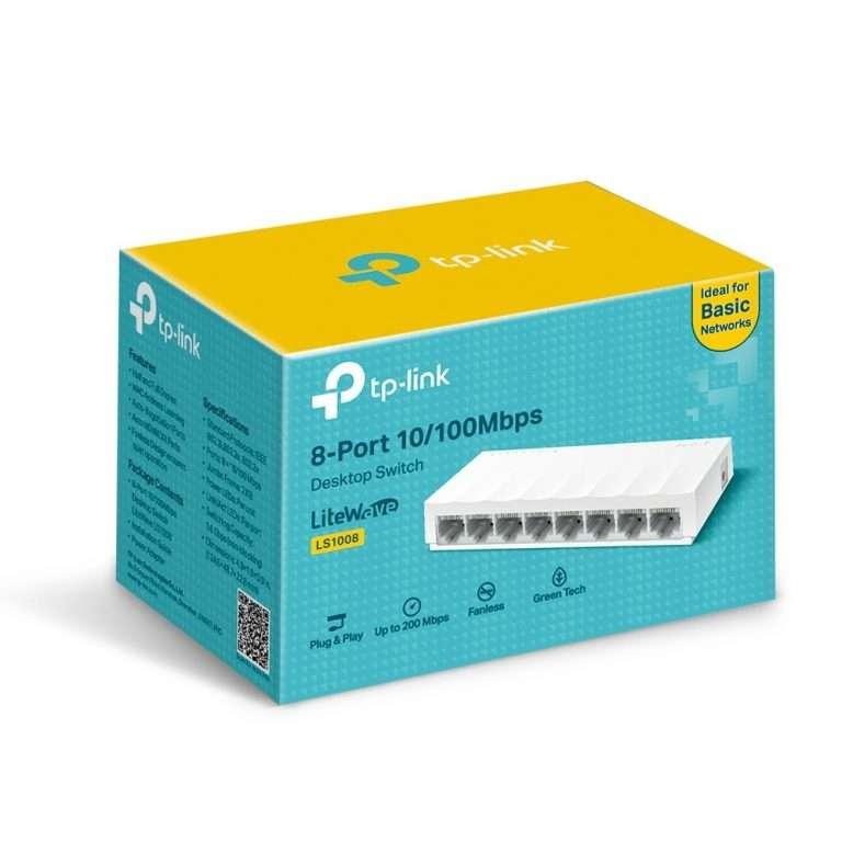 TP-Link LS1008 8 Port 10/100mbps desktop Switch
