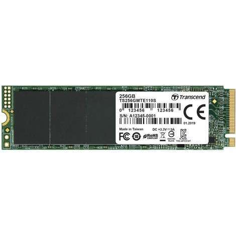 Transcend 256GB Nvme PCIe Gen3 X4 MTE110S M.2 SSD Solid State Drive TS256GMTE110S