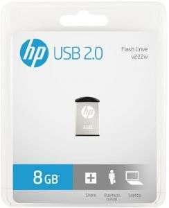 HP 8 GB USB Flash Drive - HPFD222W08-BX