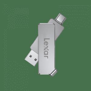 Lexar JumpDrive Dual Drive D30c 32GB USB 3.1 Type-C Silver Pen Drive #LJDD30C032G-BNSNG